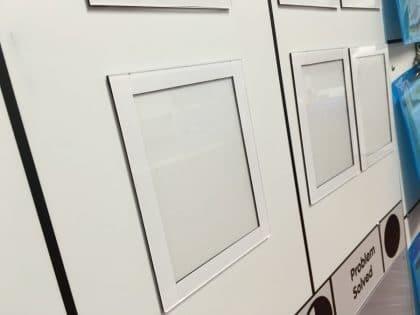 Empty magnetic document holders