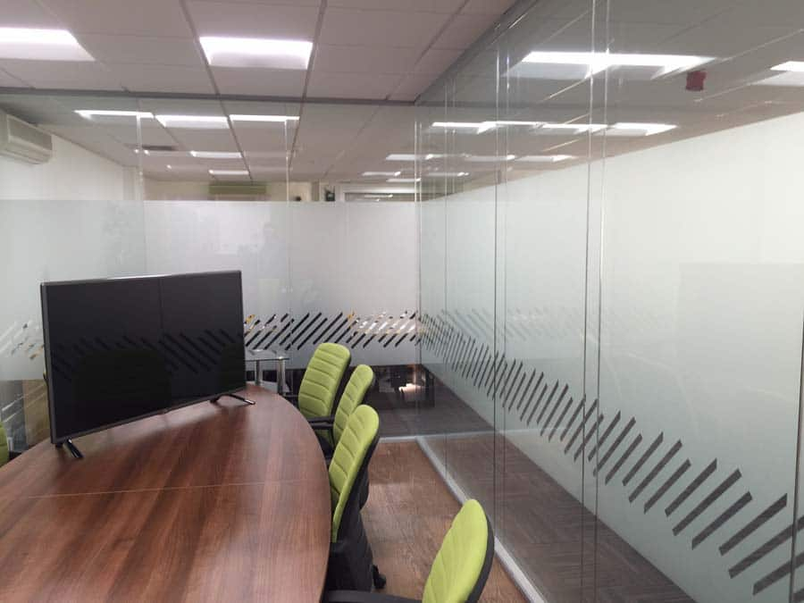 boardroom visuals graphical frosting privacy screen