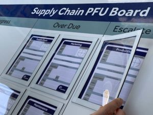 problem follow up board PFU board document holder