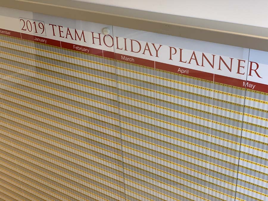 team holiday planner team management boards