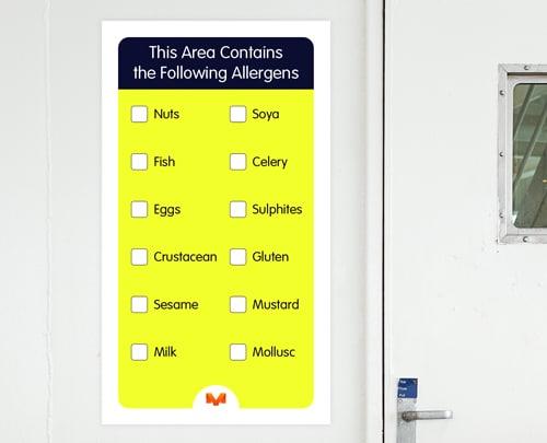 allergen control visual management