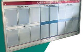 printed whiteboard lock noticeboard