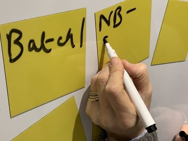 Magnetic notes printed whiteboard