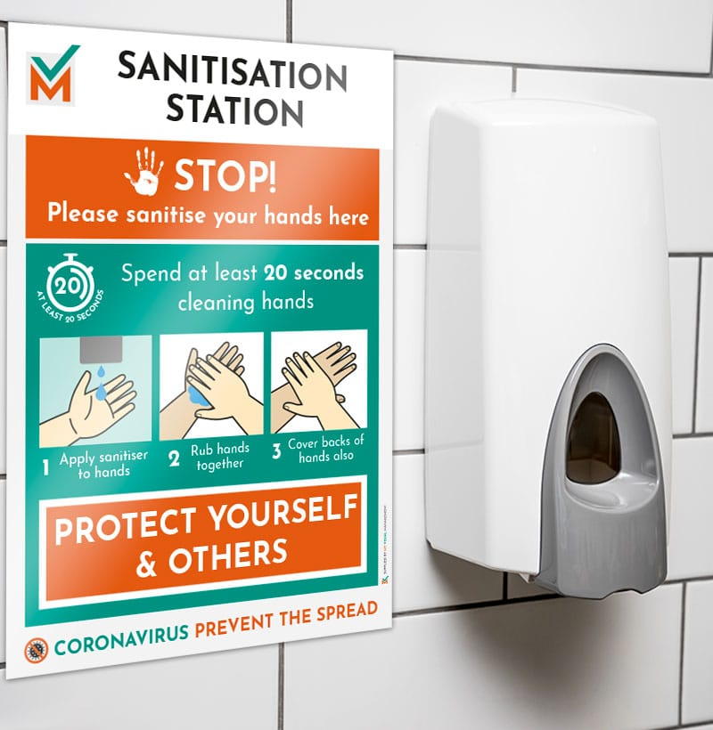 Hand Sanitisation Station Signs