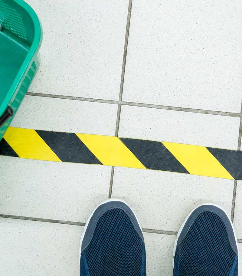 Social Distancing Floor Markings