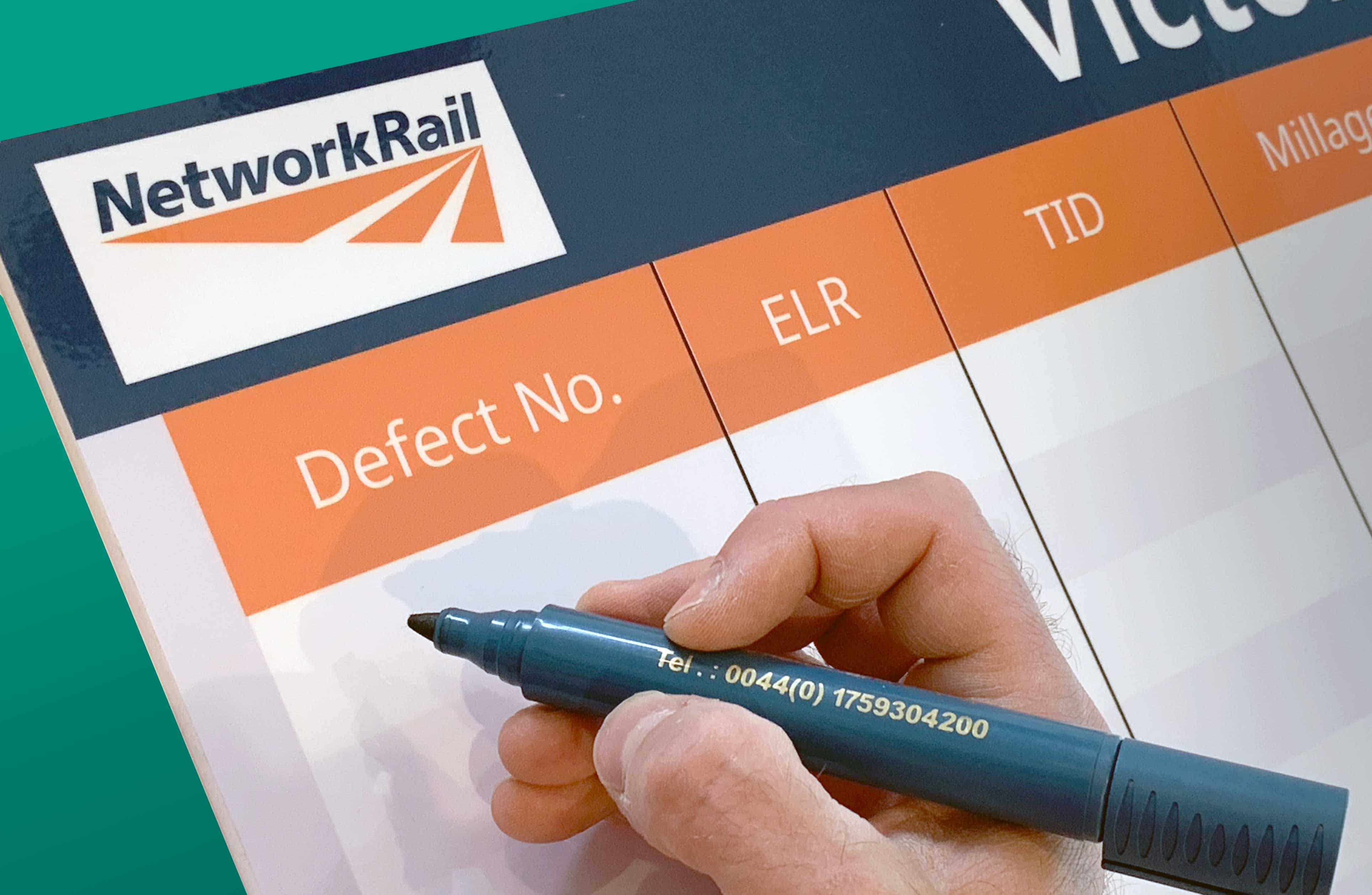 network rail kpi board