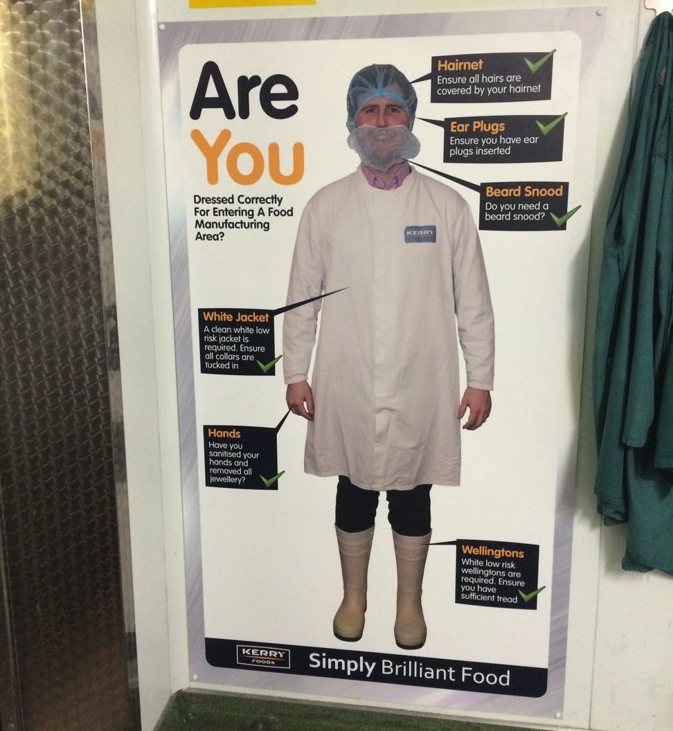 PPE Check board signage or stations